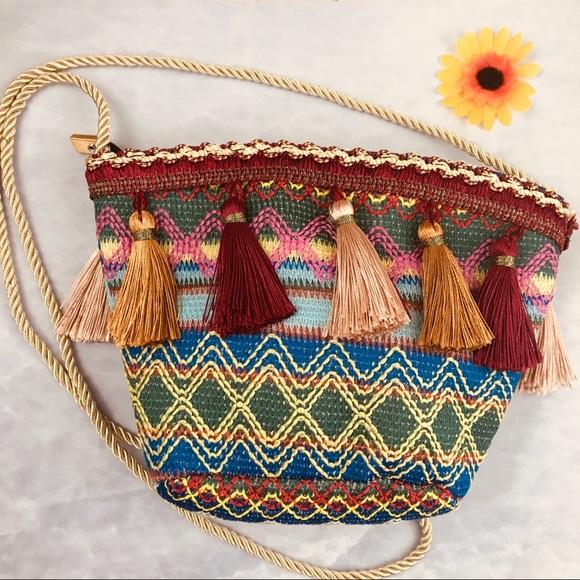 Handbags - Boho Festival Bag Purse Tassel Embroidered Zip